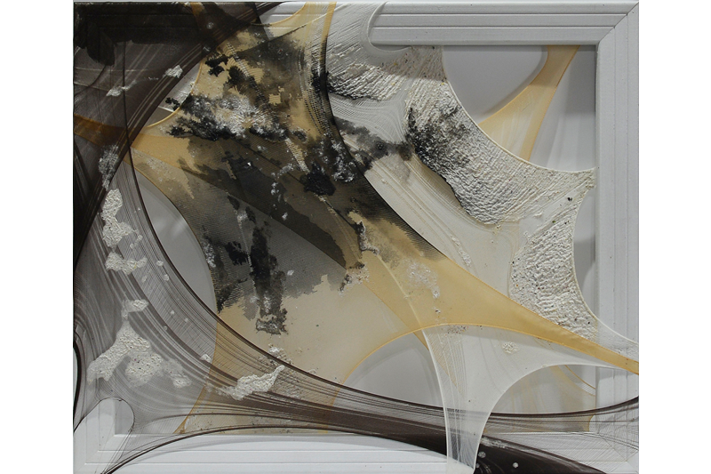 Yu Shan Huang    The Visible‧Invisible X Wooden Frame, Flexible Fabric, Paper Pulp, Ink, 2013