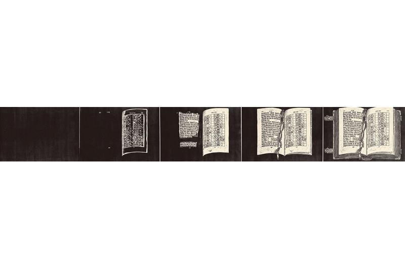 徐冰  | My Book 版畫, 1992, 35 × 250 公分 的圖說