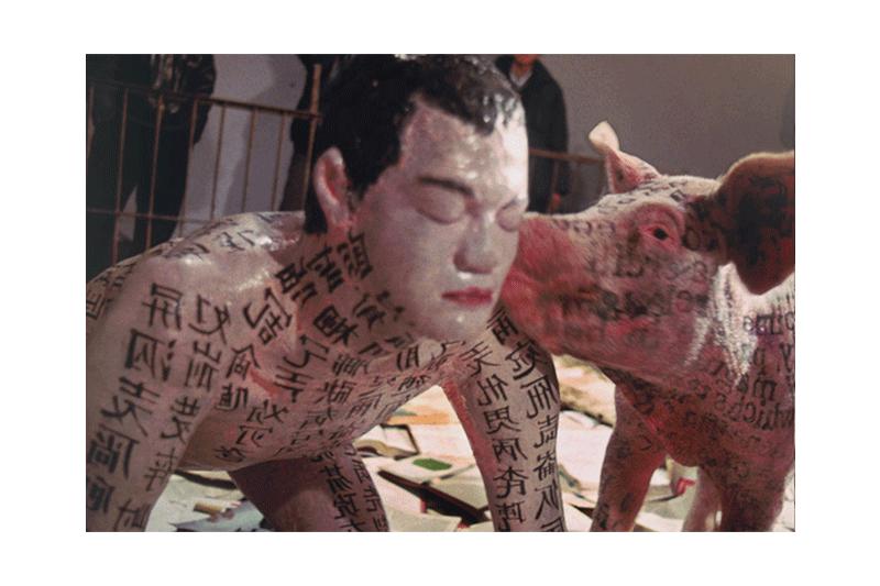 徐冰  | 文化動物 攝影, 1994, 66 × 170 公分 的圖說