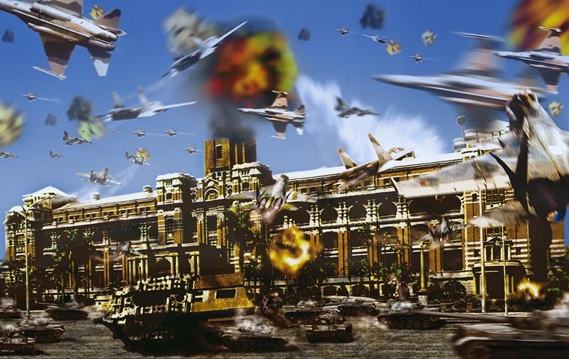 梅丁衍    境外決戰II 影像輸出, 2000 113x164 cm 藝術家自藏