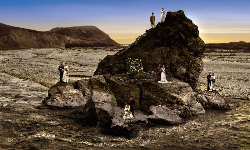 梅丁衍    好男石敢當 數位輸出, 2008 120x200 cm 藝術家自藏