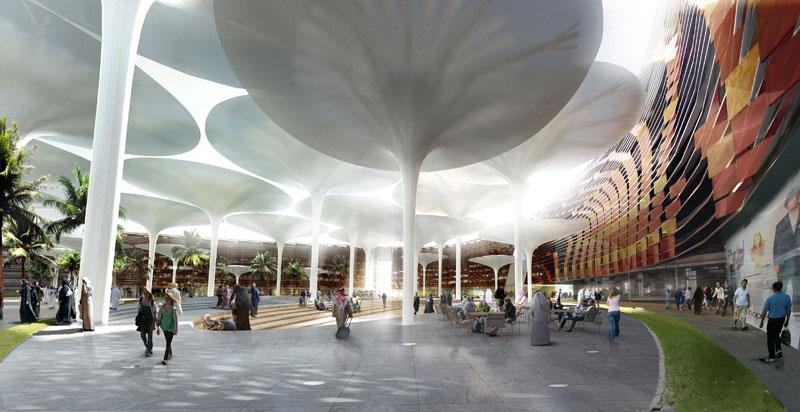 瑪斯達廣場—新興的德國建築師事務所LAVA於瑪斯達中央廣場的競圖比賽中脫穎而出。    Foster+Partners, Transsolar 的圖說