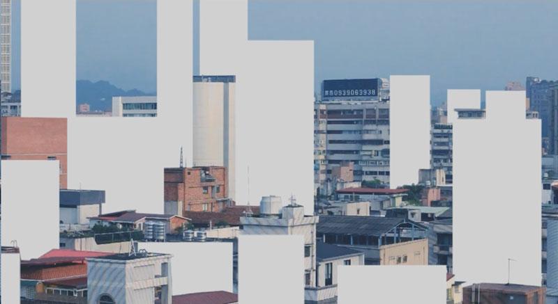 李旻軍 ∣ 鄭安齊  | 城市風景 攝影機、即時影像裝置, 2015  藝術家自藏 的圖說