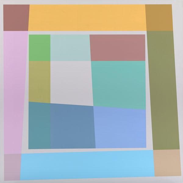 胡坤榮  | 雙蝶系列:五月 畫布、壓克力, 2010 125 x 125 cm