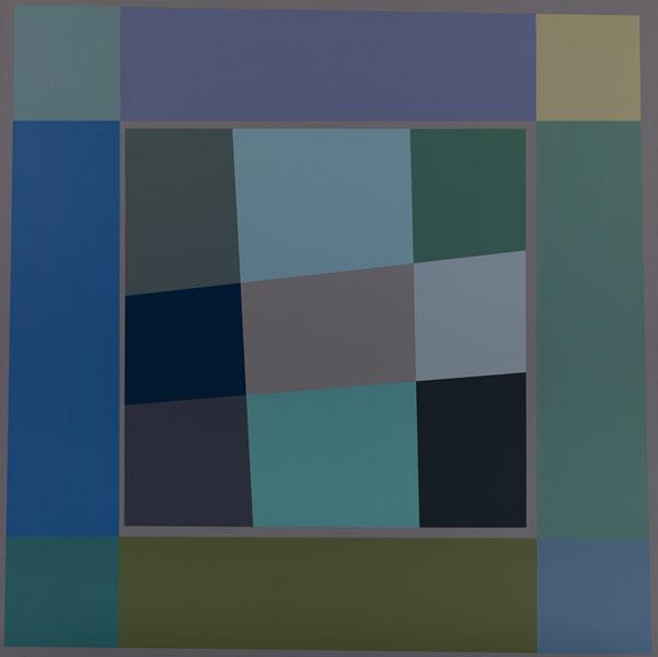 胡坤榮  | 雙蝶系列:秋蝶 畫布、壓克力, 2010 125 x 125 cm