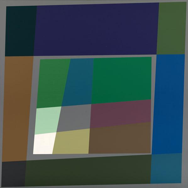 胡坤榮  | 雙蝶系列:浮世繪 畫布、壓克力, 2010 125 x 125 cm