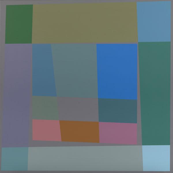 胡坤榮  | 雙蝶系列:荷花池 畫布、壓克力, 2010 125 x 125 cm