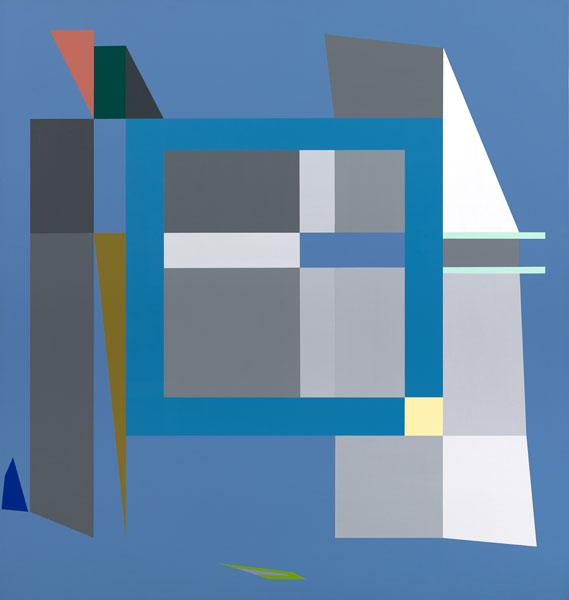 胡坤榮  | 移動系列:冬陽 畫布、壓克力, 2010 95 x 90 cm