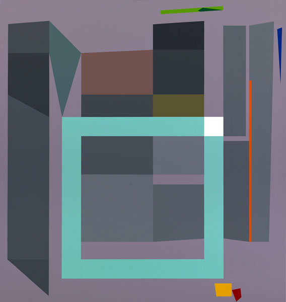 胡坤榮  | 移動系列:初雪 畫布、壓克力, 2010 95 x 90 cm