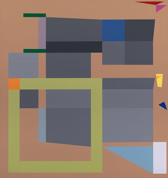 胡坤榮  | 移動系列:巴黎十月 畫布、壓克力, 2010 95 x 90 cm