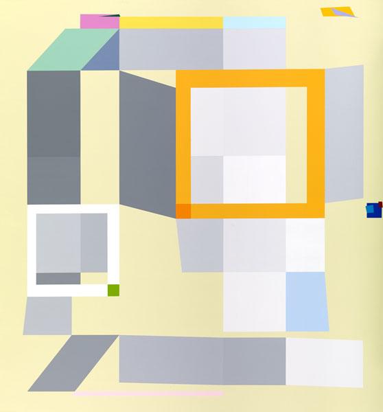 胡坤榮  | 移動系列:秋陽 畫布、壓克力, 2010 140 x 130 cm