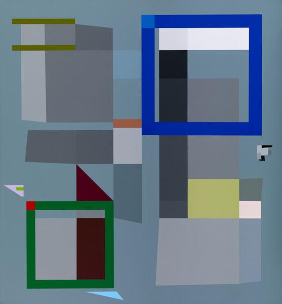 胡坤榮  | 移動系列:林間塘色 畫布、壓克力, 2010 140 x 130 cm