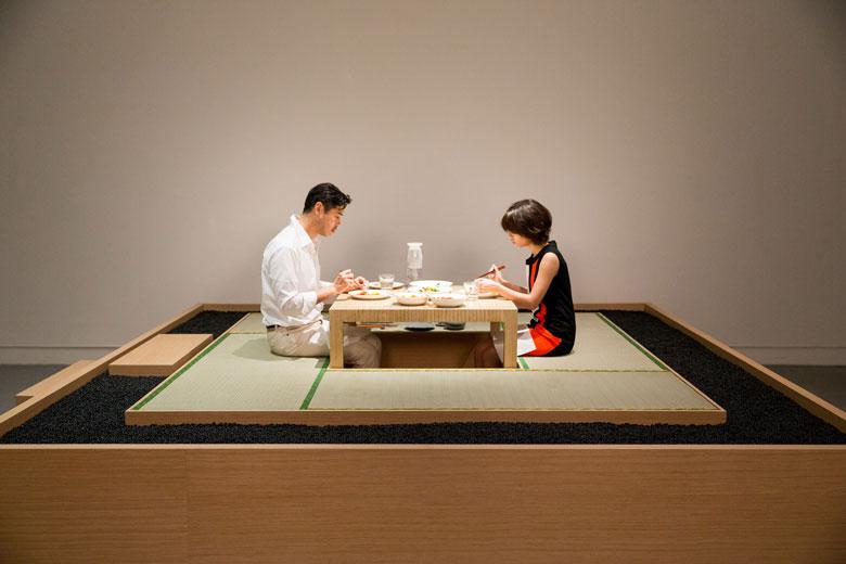 《晚餐計畫》 複合媒材互動裝置, 1997/2015   忠泰美術館籌備處收藏,北美館展出現場 的圖說