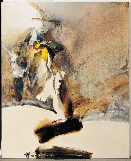CHUANG CHE    Broken Ink Landscape Acrylic, oil painting, 1977 121 x 99 cm