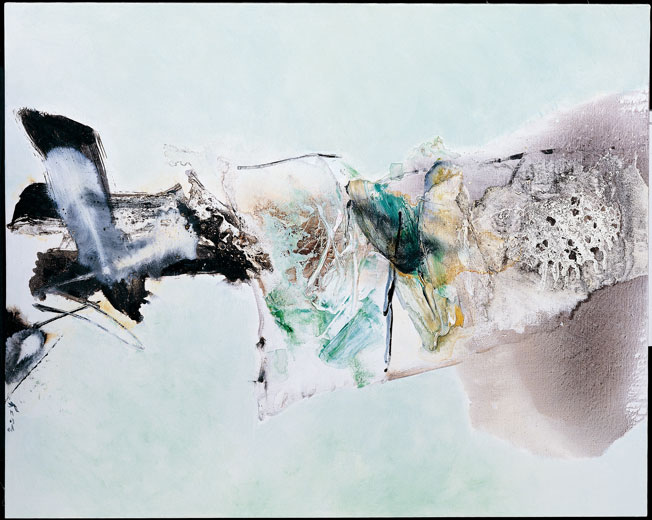 CHUANG CHE    Calligraphy with Power Acrylic and oil on canvas, 1982 172 x 137 cm