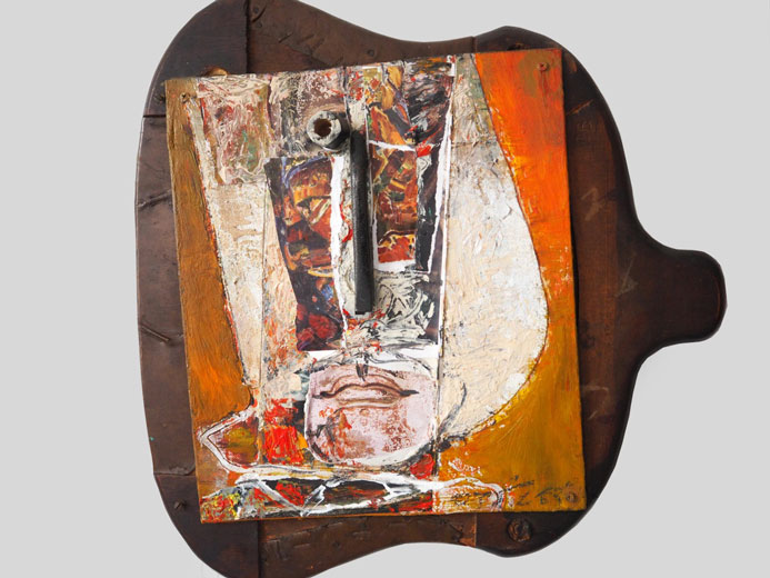 CHUANG CHE    Relief VII Mixed media, 1997 48.5×46×5cm
