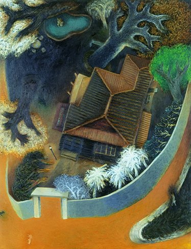 Su Wong-shen    Official Residence IV Oil on canvas, 1993 117 x 91 cm  Private collection