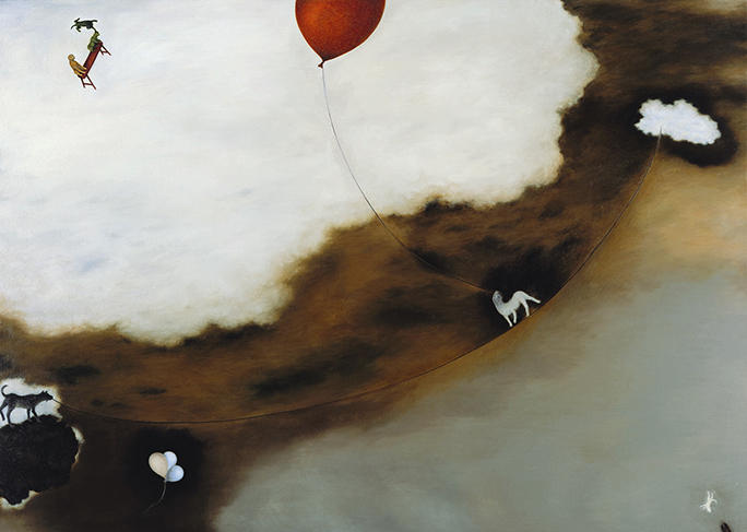 Su Wong-shen    Between the Clouds Oil on canvas, 2006-2007 200 x 280 cm  Collection of Hong-gah Museum