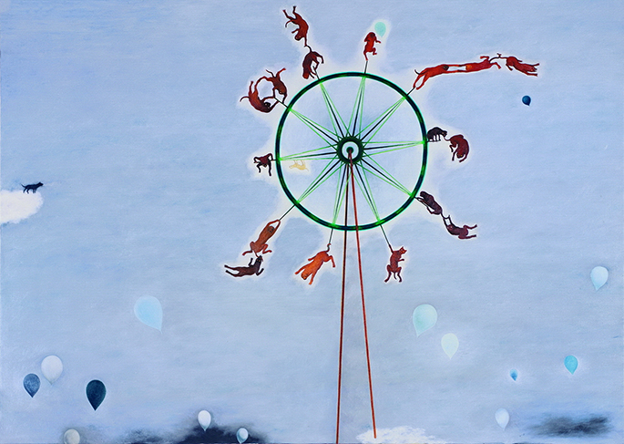 Su Wong-shen    Wow! A Ferris Wheel! Oil on canvas, 2008 200 x 280 cm  Private collection