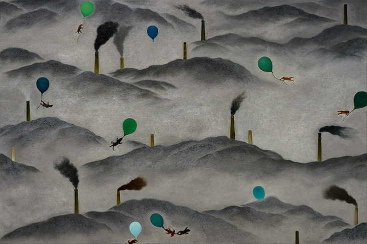Su Wong-shen    Among the Mountains Oil on canvas, 2010 130 x 195 cm  Collection of Ching-chung Tan