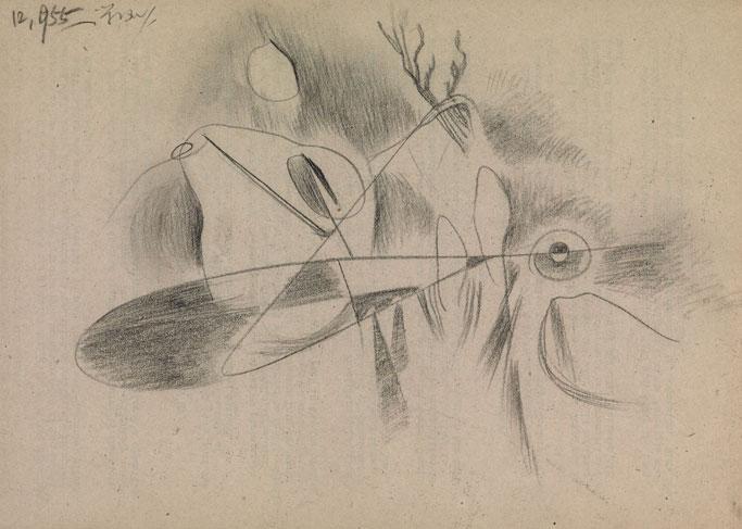 霍剛    意象12 鉛筆  紙, 1955 19.2x27.1cm