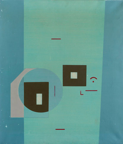 霍剛    無題72 油彩 畫布, 1972 70x60cm