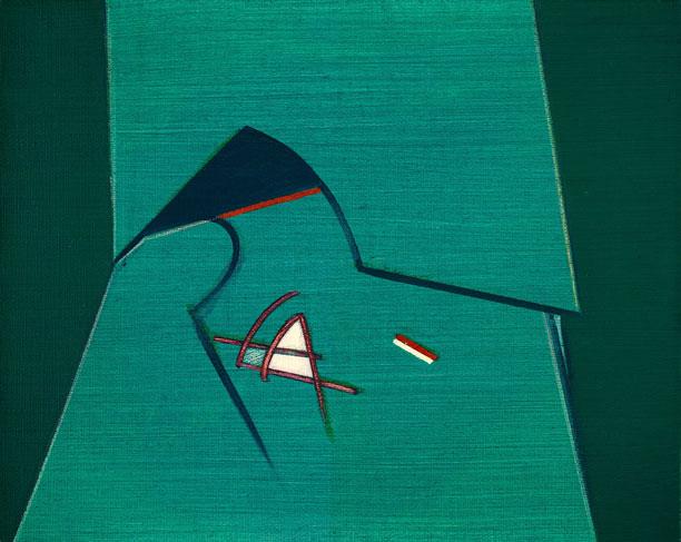 霍剛    無題98-1 油彩 畫布, 1998 40x50cm