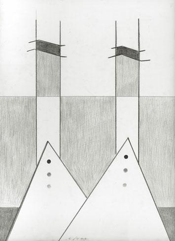 霍剛    HK NO.31 鉛筆  紙, 2012 109x79cm