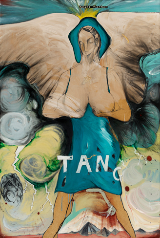Jo-Hung TANG    Searching for the Origin – Little God: Angel Mother oil paint on wood, 185×125cm 2015