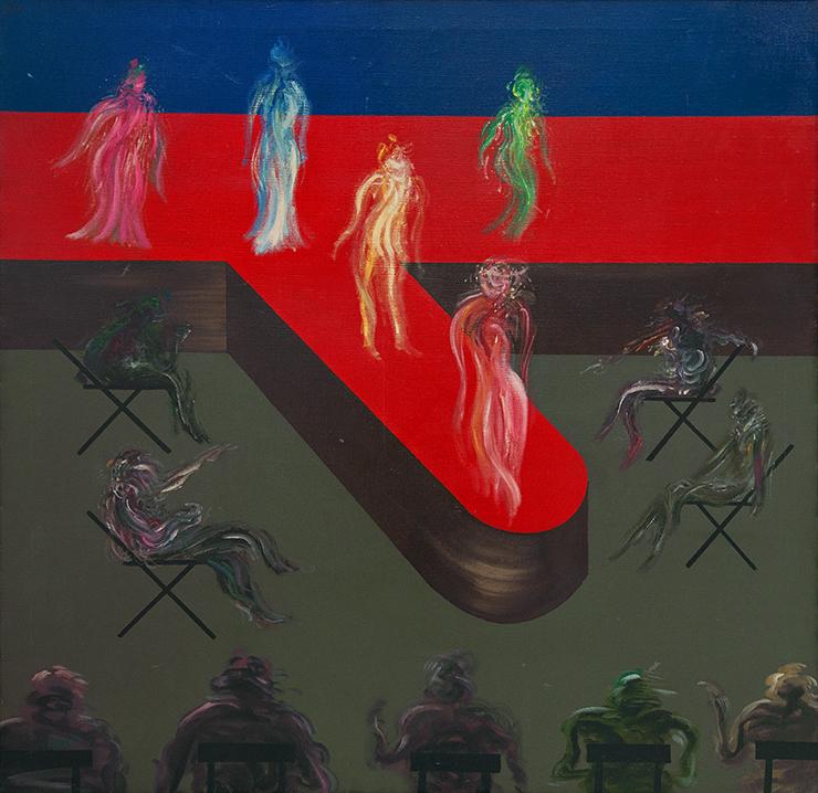 夏陽  | 選美 油彩、畫布, 1968 96.5 x 96.5 cm 的圖說