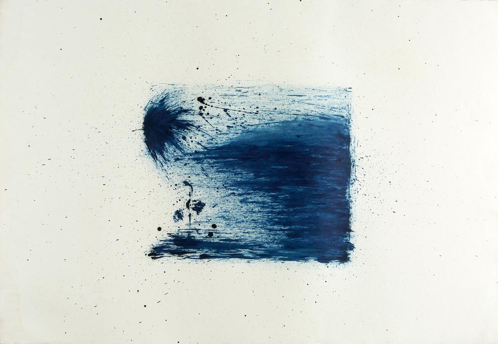 江賢二  | 流浪者之歌 油彩/畫紙, 1989-1991 77 x 112 cm 的圖說