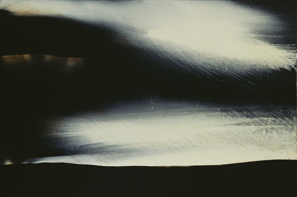 江賢二  | 銀湖 08-07 油彩/畫布, 2007-2008 200 x 300 cm  臺北市立美術館藏 的圖說