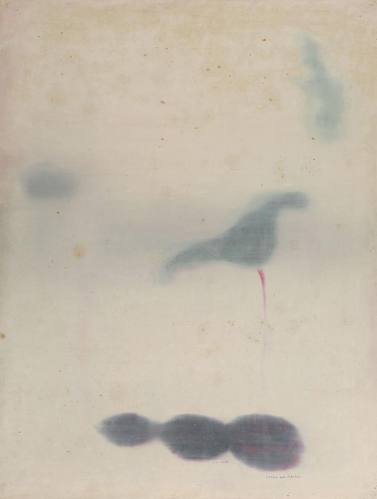 江賢二  | 蓮花的聯想 91-02 油彩/畫紙, 1991 97 x 127 cm  藝術家自藏 的圖說