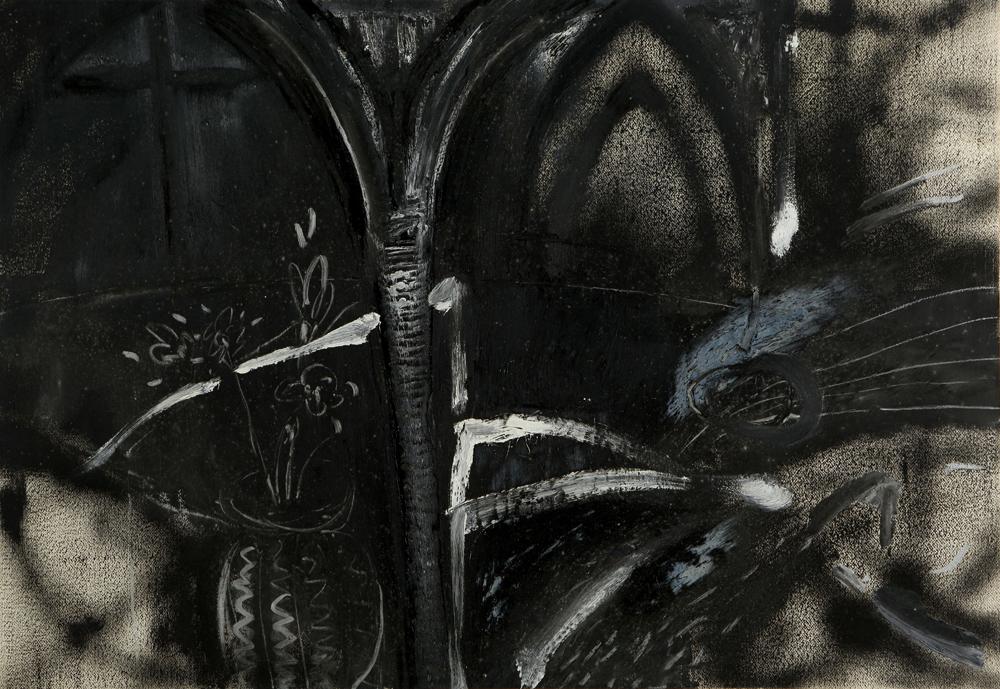 江賢二  | 巴黎聖母院 油彩/畫紙, 1982 75 x 108 cm  藝術家自藏 的圖說