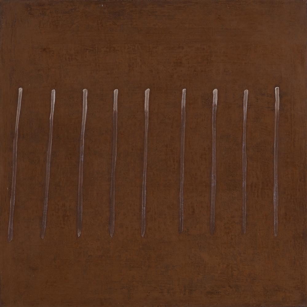 江賢二  | 無言歌 89 油彩/畫布, 1989 91 x 91 cm  藝術家自藏 的圖說