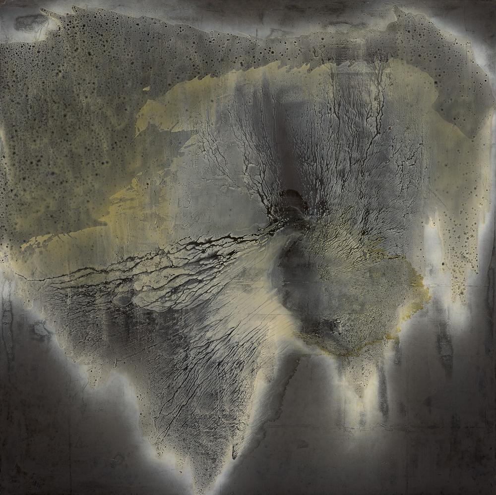 江賢二  | 銀湖 06 油彩/畫布, 2006 200 x 200 cm 私人收藏 的圖說