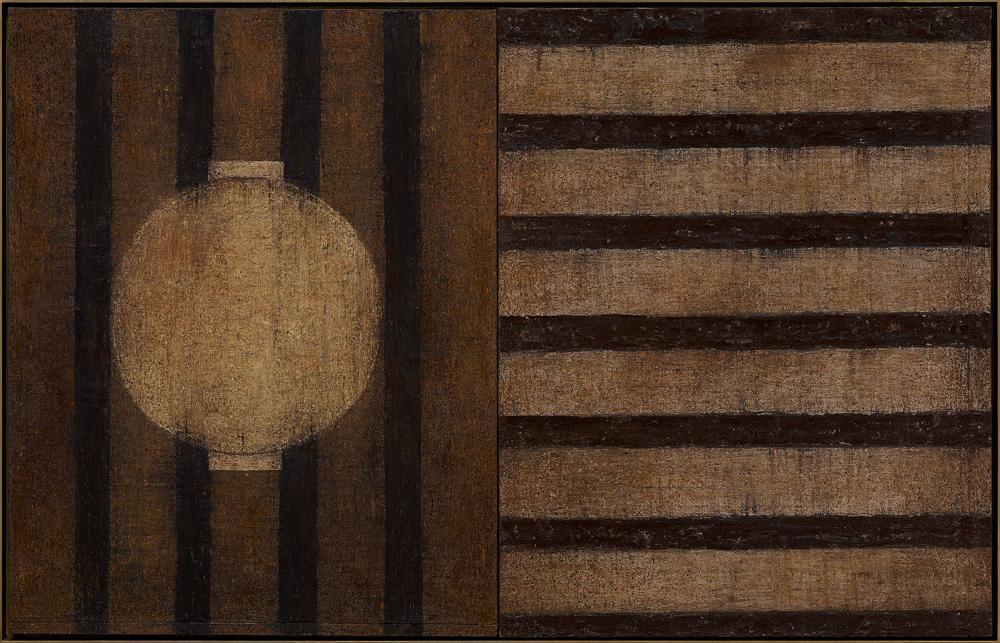 江賢二  | 故鄉 98-02 油彩/畫布, 1997-1998 130 x 203 cm 誠品畫廊收藏 的圖說