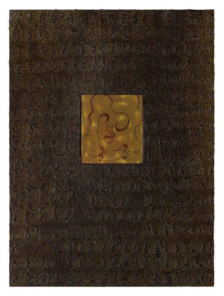 江賢二  | 百年廟 00-07 油彩/畫布, 2000 184 x 136 cm  曦爵股份有限公司收藏 的圖說