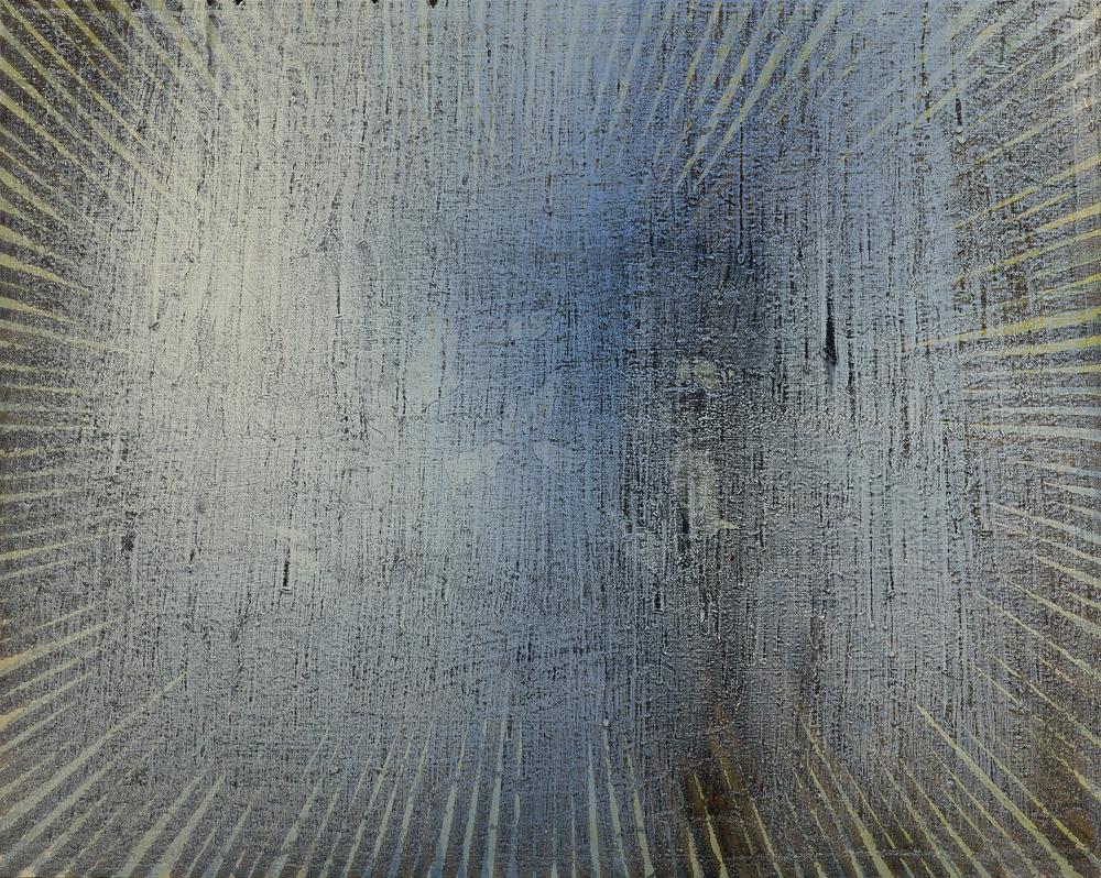 江賢二  | 淨化之夜 19-34 油彩/畫布, 2017-2019 120 x 150 cm 私人收藏 的圖說