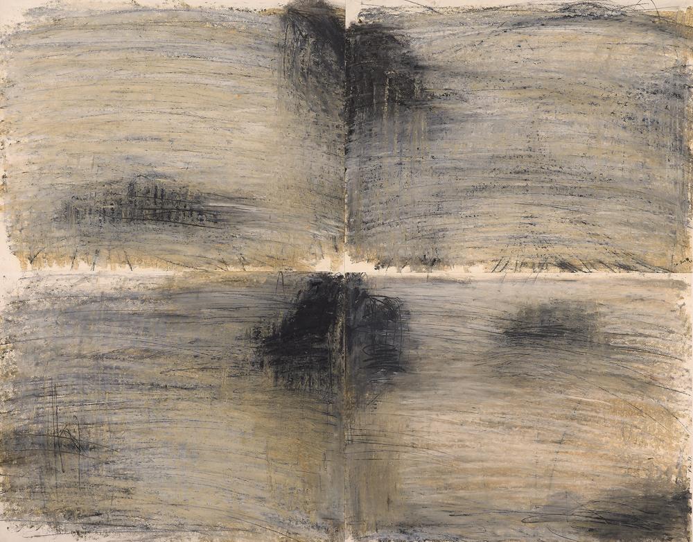江賢二  | 聖巴爾斯島 93 油彩/畫紙, 1993 100 x 129 cm 私人收藏,臺北 的圖說
