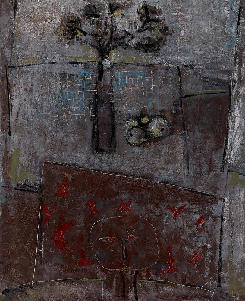 江賢二  | 淨化之夜 65-20 油彩/畫布, 1965 90 x 72 cm  國立臺灣師範大學典藏 的圖說