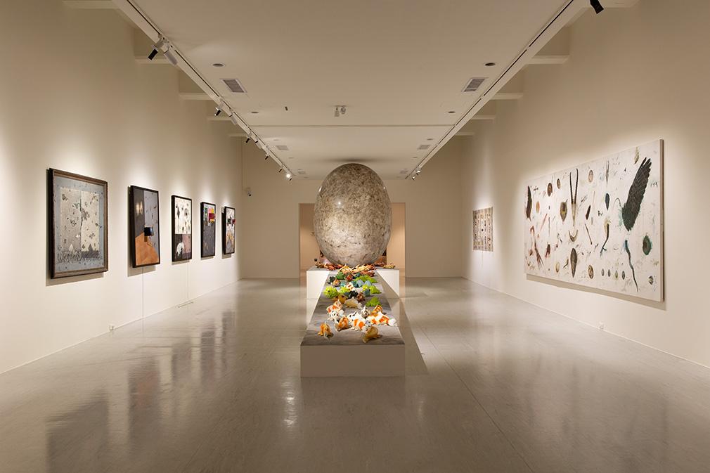 「大遷徙:盧明德」《符碼記憶》展場  2021   ©臺北市立美術館 的圖說
