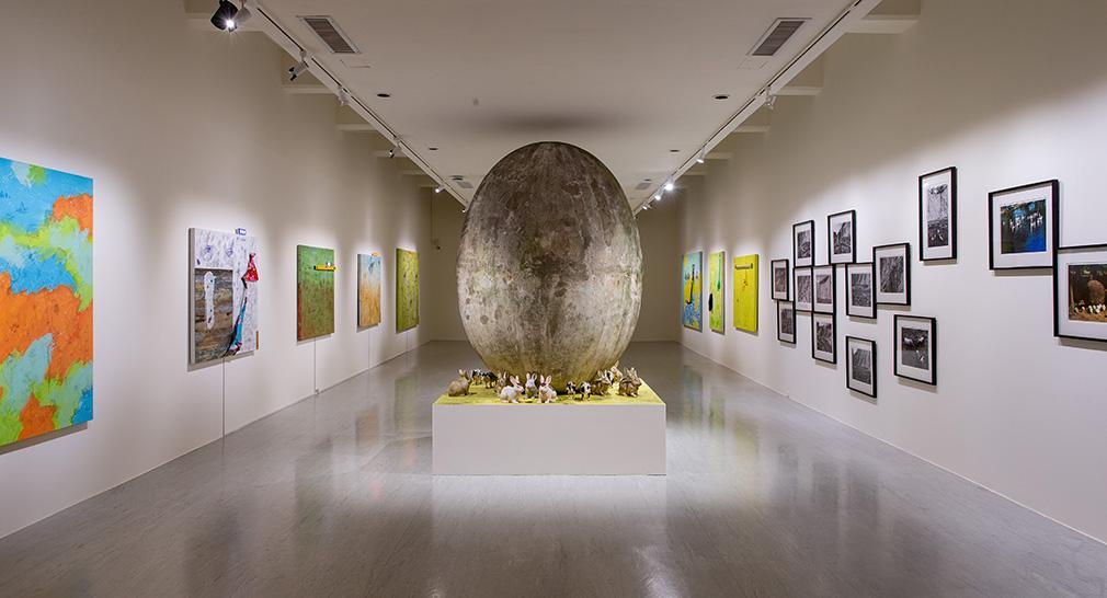 「大遷徙:盧明德」《如果生態不再是符碼》展場  2021  ©臺北市立美術館 的圖說
