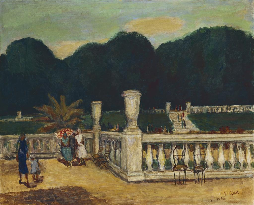 顏水龍    盧森堡公園 油彩、畫布, 1932 65.1×80.3公分 臺北市立美術館典藏