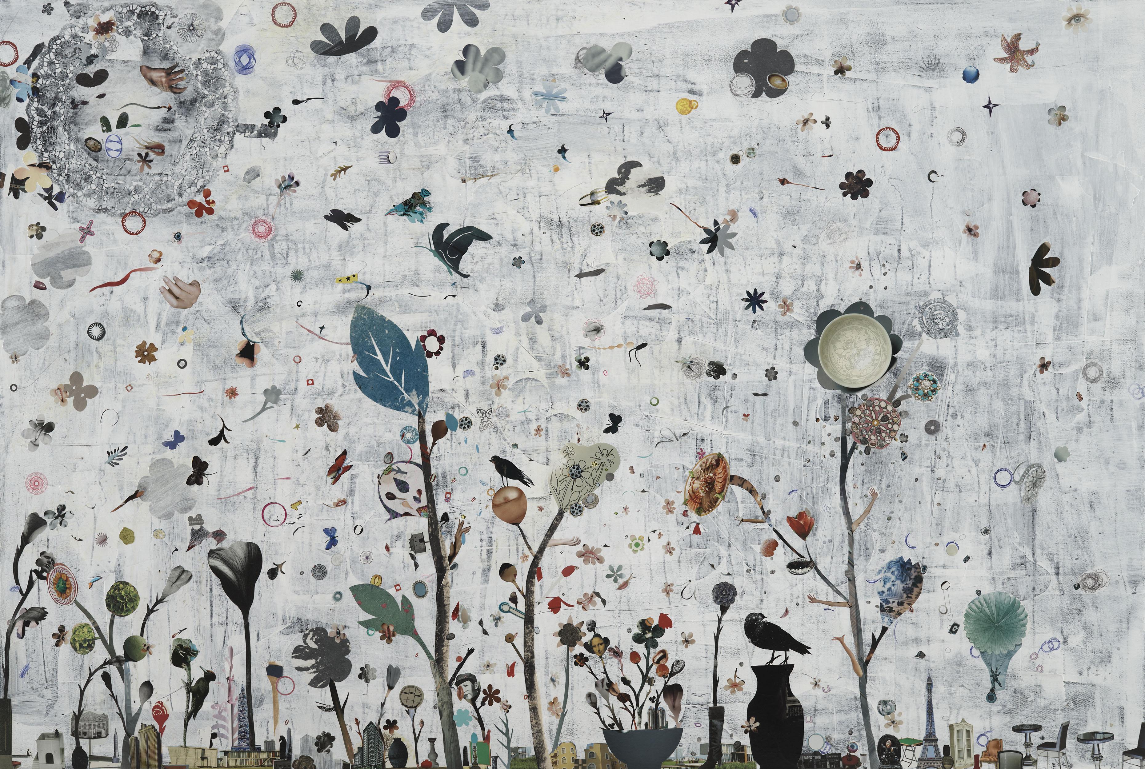 LIU Shih-tung, Mixed Media  | Vase Landscape II   130x194 cm, 2011 的圖說