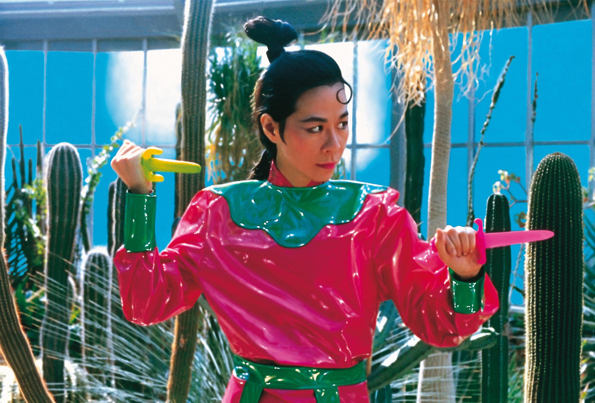 WANG Jun-jieh, Digital Print  | Woman Warrior   150x150 cm, 1996 的圖說