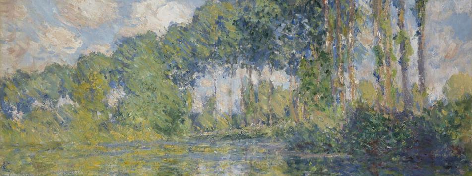 油彩、畫布  | 艾普特河岸的白楊樹   81.8 X 81.3 cm, 1891 的圖說
